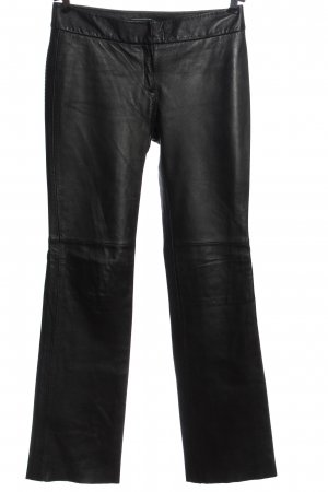 MNG Leather Trousers black casual look