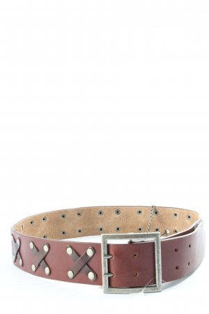 MNG Cintura in ecopelle marrone stile casual