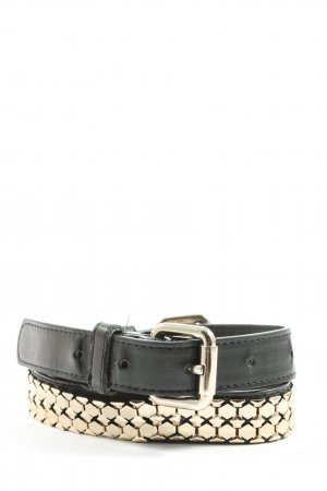 MNG Cintura in ecopelle nero stile casual