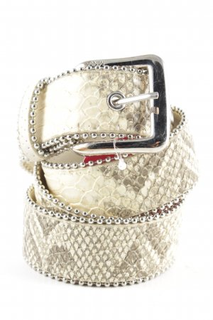 MNG Faux Leather Belt cream animal pattern casual look