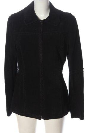 MNG Lederjacke schwarz Elegant