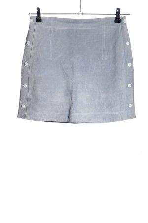 MNG Lederrock blau Casual-Look