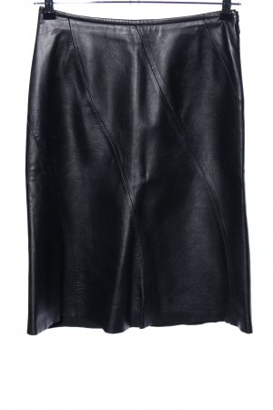 MNG Leather Skirt black casual look