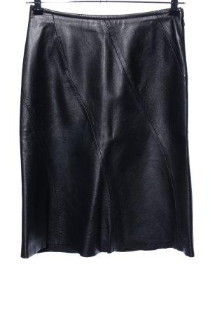 MNG Jupe en cuir noir style décontracté