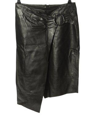 MNG Leren rok zwart casual uitstraling