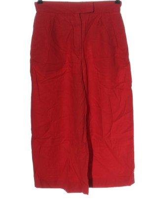 MNG Pantalon en lin rouge style décontracté