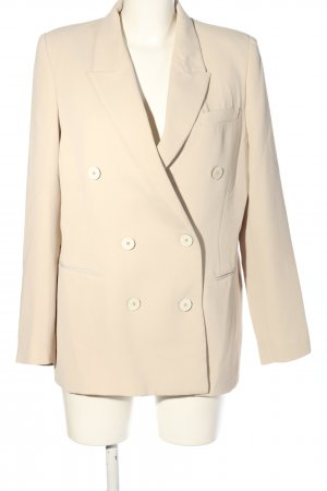 MNG Long-Blazer creme Business-Look