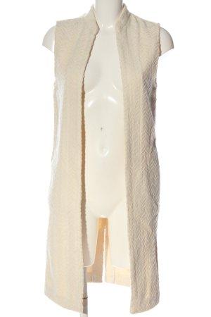 MNG Gilet long tricoté crème style décontracté