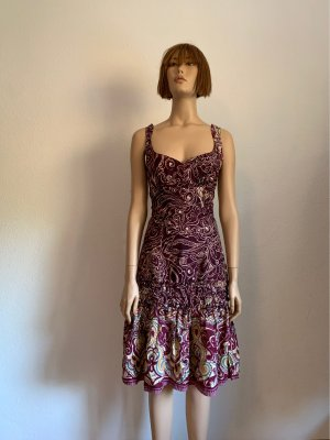 Mango Hippie Dress bordeaux-blackberry-red