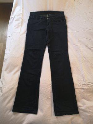 MNG Mango Jeans D 38 Strass dunkelblau-schwarz