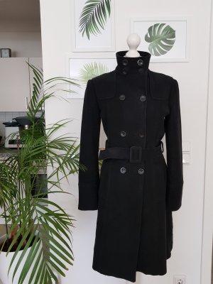 MNG Gabardina tipo vestido negro