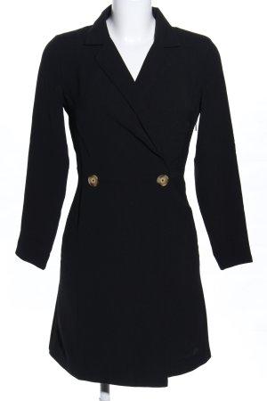 MNG Geklede jurk zwart casual uitstraling