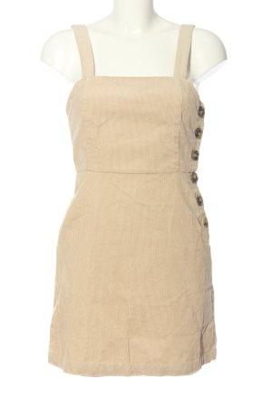 MNG Minikleid creme Streifenmuster Casual-Look