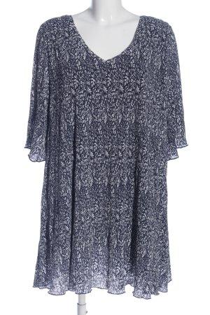 MNG Minikleid schwarz-weiß Allover-Druck Casual-Look