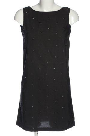MNG Minikleid schwarz Punktemuster Casual-Look