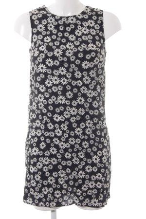 MNG Minikleid schwarz-weiß Blumenmuster Casual-Look