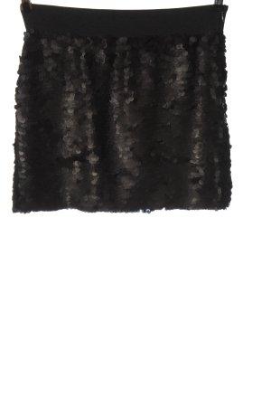 MNG Mini-jupe noir-gris clair pailleté