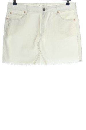 MNG Mini-jupe blanc style décontracté