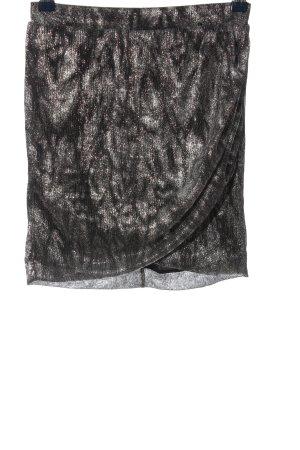 MNG Mini-jupe argenté moucheté élégant