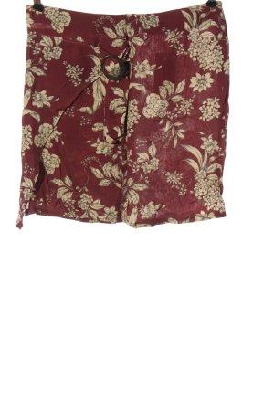 MNG Mini-jupe rouge-crème imprimé allover style décontracté
