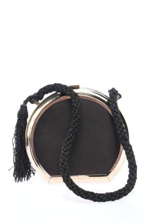MNG Minitasche schwarz-goldfarben Glitzer-Optik