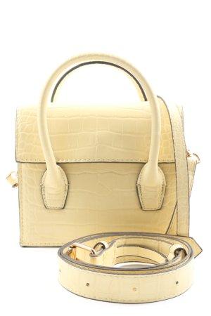 MNG Borsetta mini giallo pallido stampa integrale stile casual