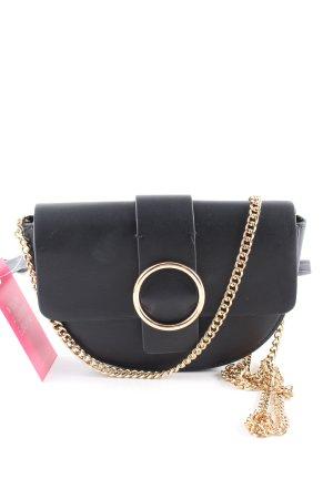 MNG Minitasche schwarz-goldfarben Casual-Look