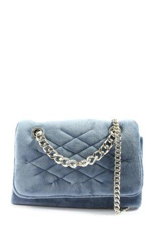 MNG Minitasche blau Steppmuster Elegant