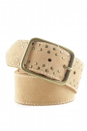 MNG Studded Belt nude casual look