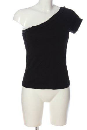 MNG Eénschoudershirt zwart casual uitstraling