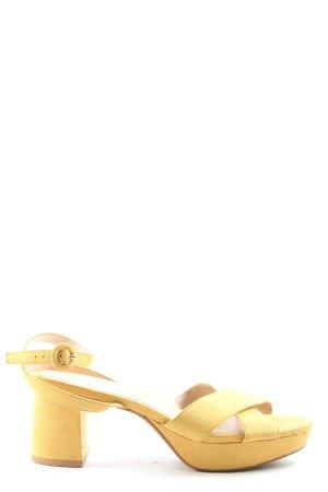 MNG Sandalias de tacón con plataforma amarillo pálido look casual