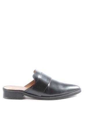 MNG Premium Absatz Pantoletten schwarz Casual-Look