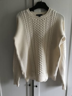 MNG Pullover Baumwolle Creme