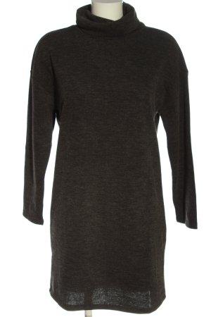 MNG Sweaterjurk zwart gestippeld casual uitstraling