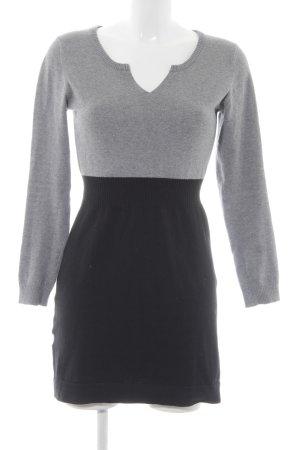 MNG Pulloverkleid schwarz-grau Casual-Look