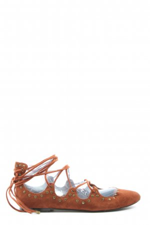 MNG Strappy Ballerinas brown casual look