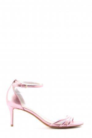 MNG Strapped High-Heeled Sandals pink casual look