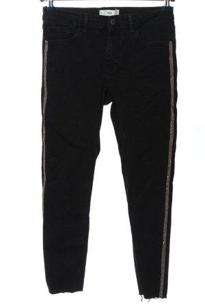 MNG Röhrenhose schwarz-silberfarben Casual-Look