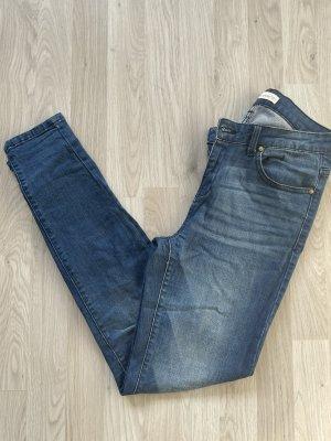 MNG Wortel jeans donkerblauw-blauw