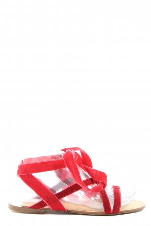 MNG Roman Sandals red-cream casual look