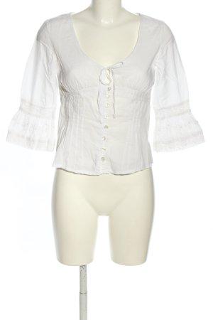 MNG Rüschen-Bluse weiß Casual-Look