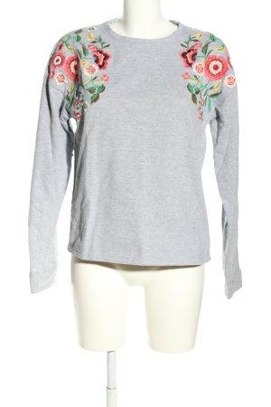 MNG Kraagloze sweater bloemenprint casual uitstraling