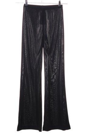 MNG Pantalón de campana negro estampado con diseño abstracto look casual