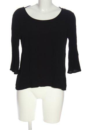 MNG Schlupf-Bluse schwarz Casual-Look