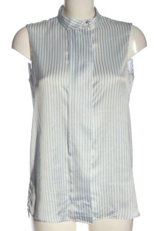 MNG Schlupf-Bluse wollweiß-blau Streifenmuster Elegant