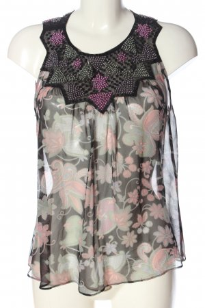MNG Schlupf-Bluse abstraktes Muster Elegant