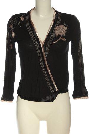 MNG Schlupf-Bluse schwarz-goldfarben Elegant