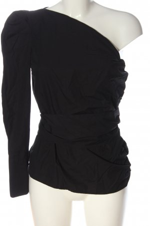 MNG Blusa con lazo negro elegante