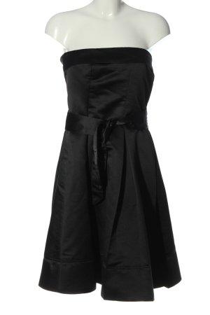 MNG schulterfreies Kleid schwarz Elegant