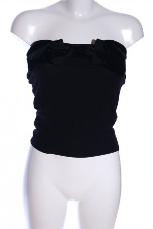 MNG schulterfreies Top schwarz Elegant